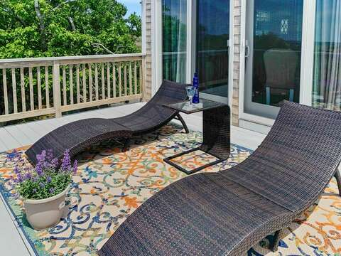 Lounge chairs on the deck at-19 Bob White Lane South Harwich Cape Cod New England Vacation Rentals