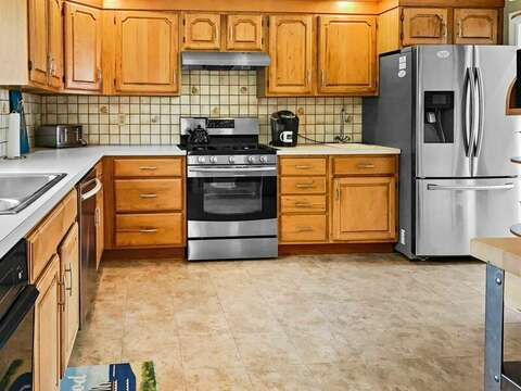 New appliances including a stainless dishwasher and fridge  - 19 Bob White Lane South Harwich Cape Cod New England Vacation Rentals
