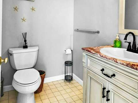 1/2 bath off of the hallway on the 2nd floor - 19 Bob White Lane South Harwich Cape Cod New England Vacation Rentals