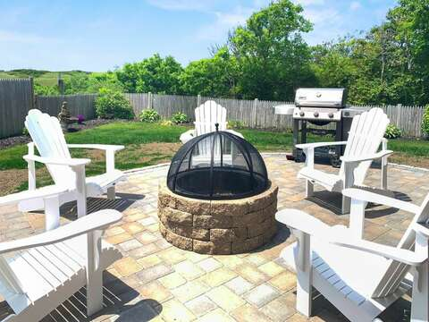 Enjoy Fire and Friendship at -19 Bob White Lane South Harwich Cape Cod New England Vacation Rentals