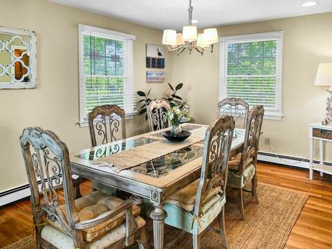 Large dining table! - 19 Bob White Lane South Harwich Cape Cod New England Vacation Rentals