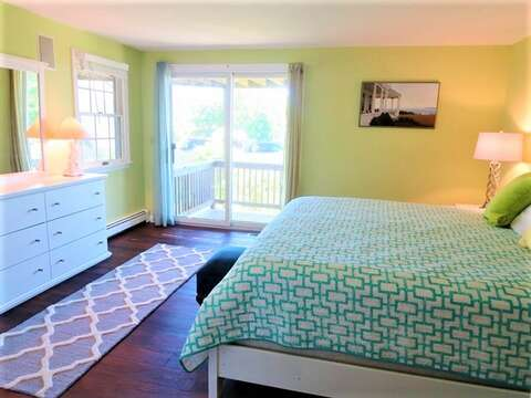 Bedroom #4 First floor Master with King bed and private deck-19 Bob White Lane South Harwich Cape Cod New England Vacation Rentals
