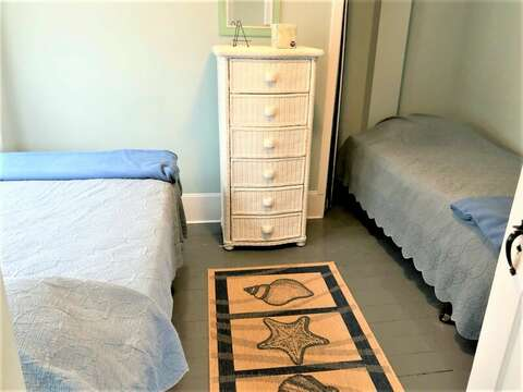 Bedroom # 1 with 2 Twins - 36 Cross Street Harwich Port Cape Cod New England Vacation Rentals