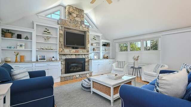 Enter to a large Living area.  201 Main Street Chatham Cape Cod New England Vacation Rentals
