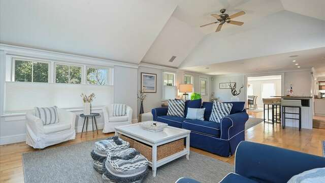 Expansive view of Living/Bar Area.  201 Main Street Chatham Cape Cod New England Vacation Rentals
