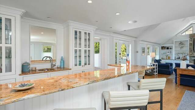 Enjoy a beverage at the Bar.  Sitting and Bar Area. 201 Main Street Chatham Cape Cod New England Vacation Rentals