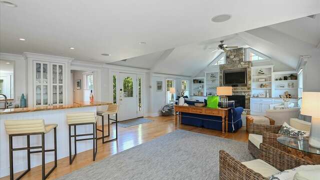 View of Bar/Living Area. Sitting and Bar Area. 201 Main Street Chatham Cape Cod New England Vacation Rentals