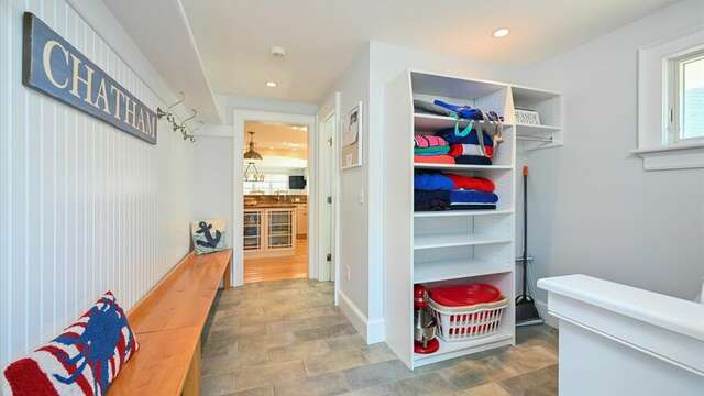 Laundry Room off Kitchen 201 Main Street Chatham Cape Cod New England Vacation Rentals