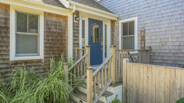 Entrance to Home from the Driveway. 201 Main Street Chatham Cape Cod New England Vacation Rentals