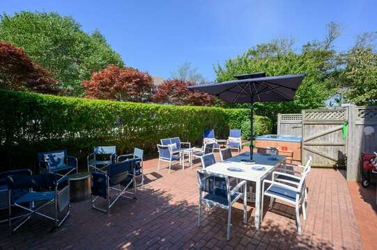 Back patio a perfect outdoor space at-201 Main Street Chatham Cape Cod New England Vacation Rentals