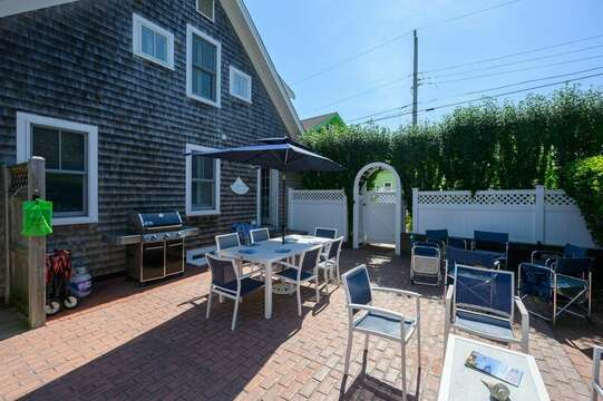 Great outdoor entertaining space at-201 Main Street Chatham Cape Cod New England Vacation Rentals