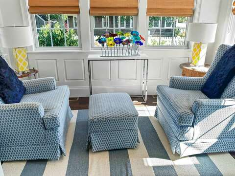 Sun porch. Read, relax, or enjoy a beverage! - 32 Bearses By Way Chatham Cape Cod New England Vacation Rentals