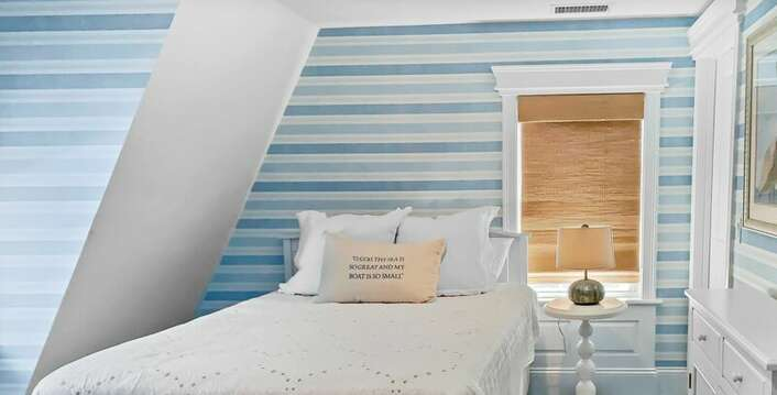 Bedroom 1 with a Queen bed - 32 Bearses By Way Chatham Cape Cod New England Vacation Rentals