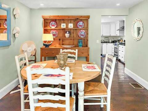The dining room, just off of the kitchen - 32 Bearses By Way Chatham Cape Cod New England Vacation Rentals