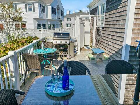 Enclosed outdoor shower with hot and cold water - 32 Bearses By Way Chatham Cape Cod New England Vacation Rentals