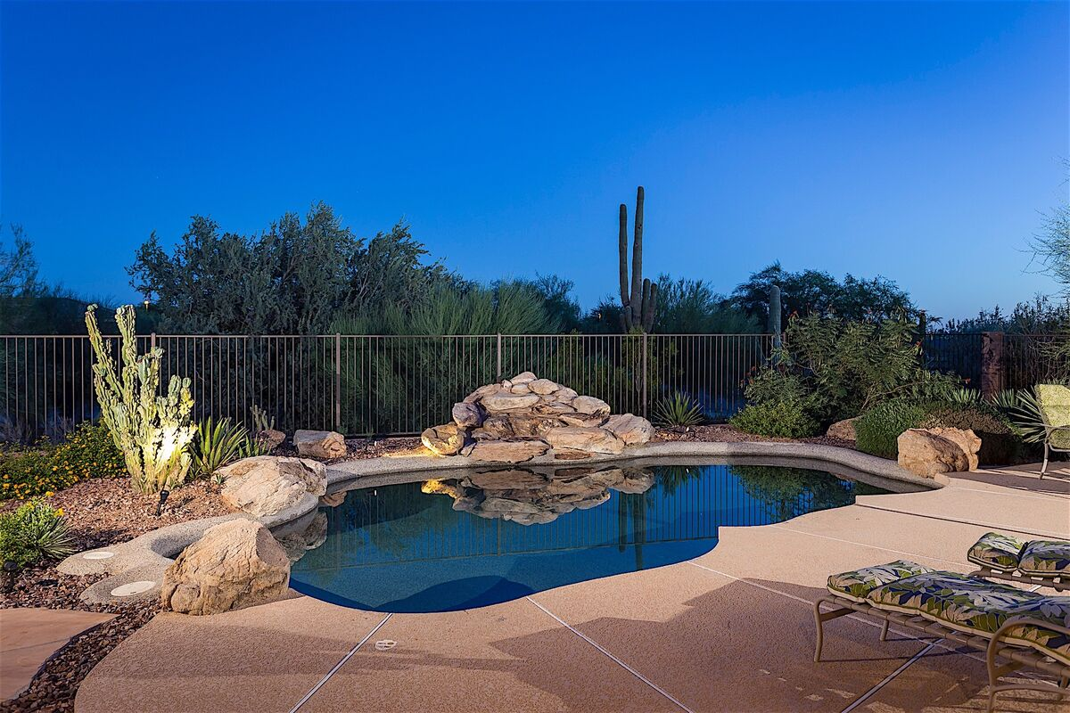 Private Pool - heated with waterfall feature