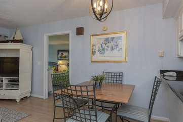 The home features hardwood floors and a calming decor.