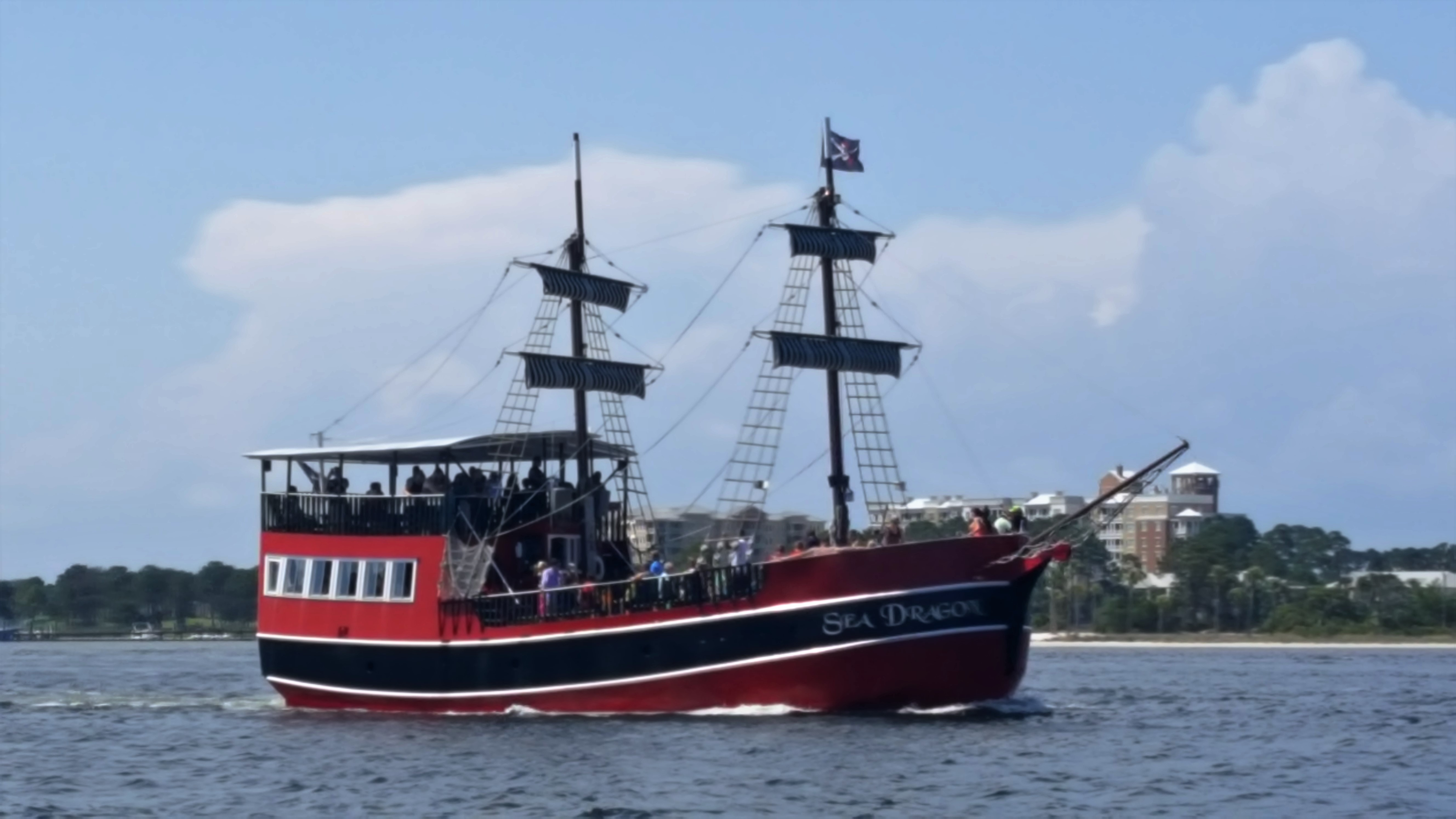 Take a ride on the PIrate Ship Cruise.  Be ready to get wet when the little pirates