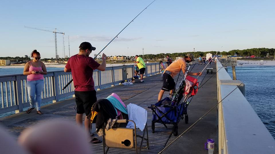 Fishing from one of the piers is a great way to spend a day.
