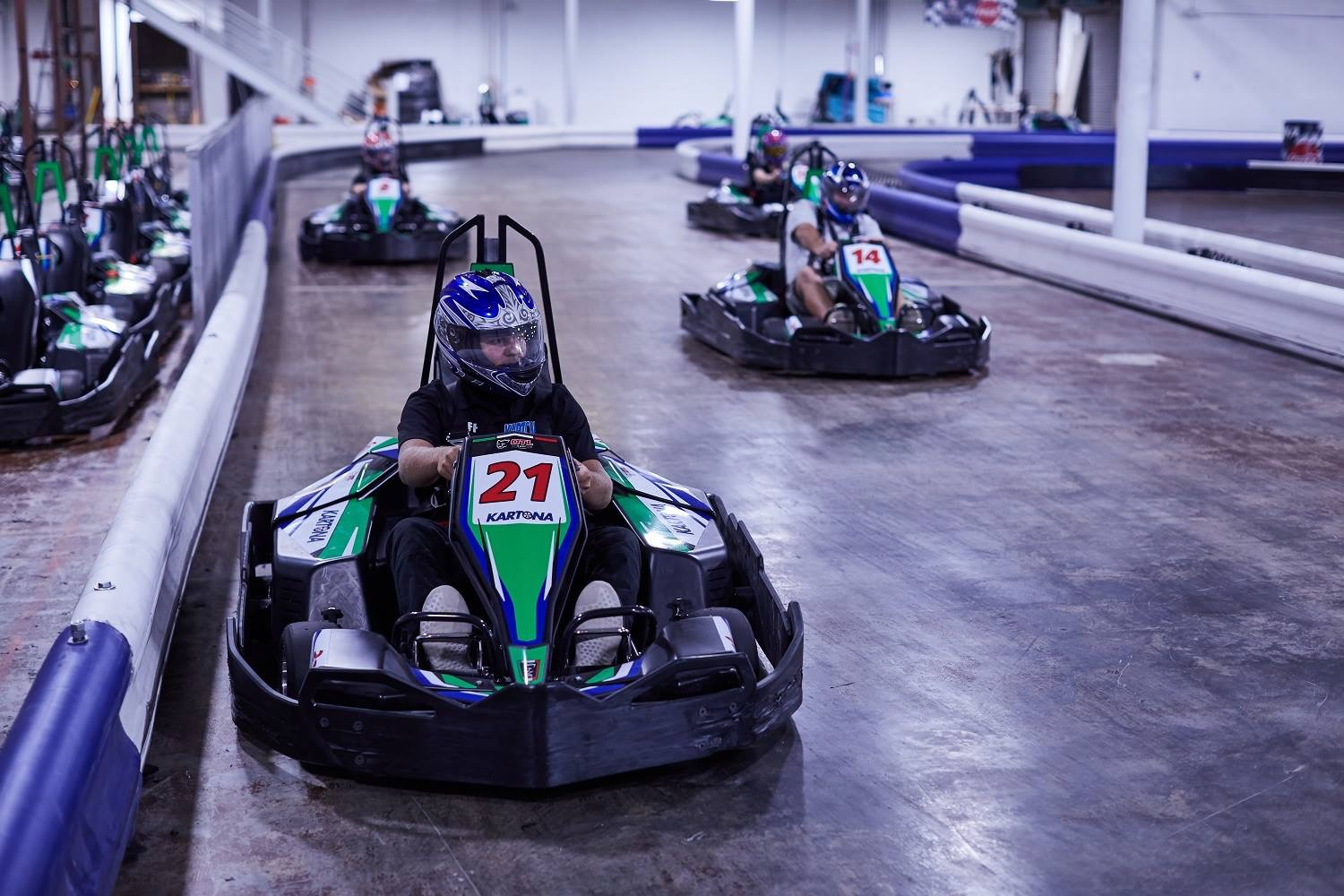 Go Kart racing is fun for everyone.  Kartona is indoors and there are many other outdoor tracks in PCB.