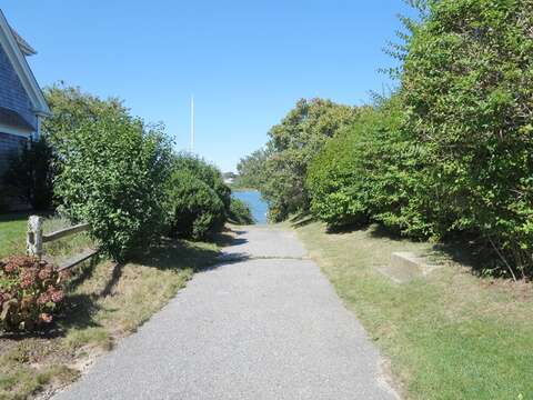 Deeded access to Oyster Pond at the end of the street - 14 Capri Lane Chatham Cape Cod New England Vacation Rentals