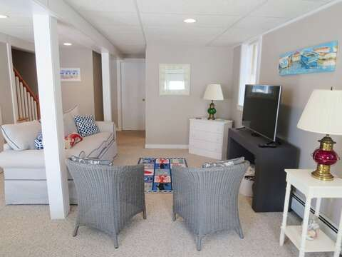 Large flat screen TV - 14 Capri Lane Chatham Cape Cod New England Vacation Rentals