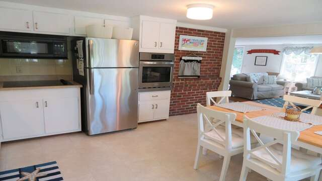 Fully equipped kitchen with a dishwasher. ALL NEW stainless appliances and new countertops! - 14 Capri Lane Chatham Cape Cod New England Vacation Rentals