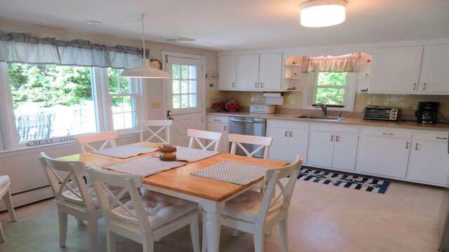 Easy access from the kitchen to the deck - 14 Capri Lane Chatham Cape Cod New England Vacation Rentals