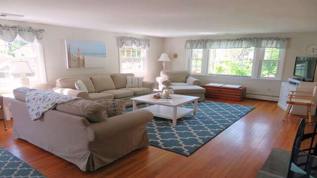 Lots of comfortable seating.  Offering WiFi and Central Air! - 14 Capri Lane Chatham Cape Cod New England Vacation Rentals