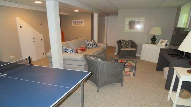 Nice extra space, the couch is a pull out for extra sleeping! - 14 Capri Lane Chatham Cape Cod New England Vacation Rentals