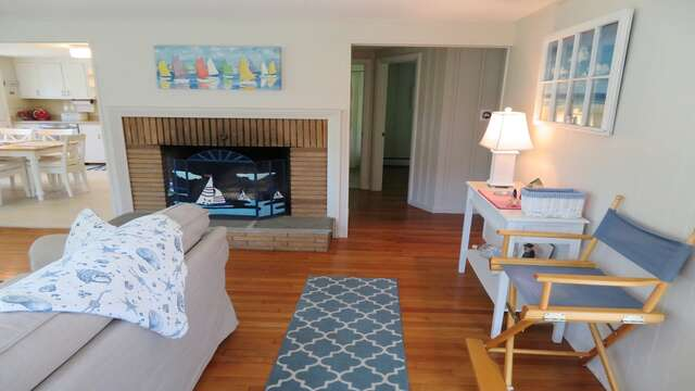 Open living and dining. View to the hall where the bedrooms are - 14 Capri Lane Chatham Cape Cod New England Vacation Rentals