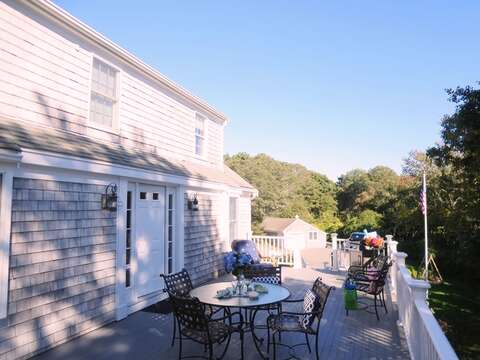 Spacious deck - 1789 Main Street Chatham Cape Cod New England Vacation Rentals