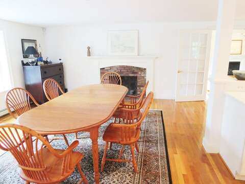 Dining is off of kitchen-large table easily seating 8 - 1789 Main Street Chatham Cape Cod New England Vacation Rentals