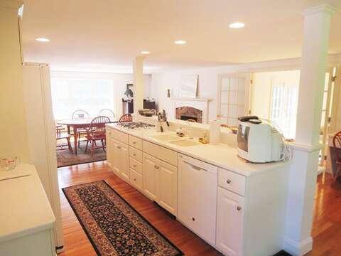 Open style living- the kitchen is the heart of the home! - 1789 Main Street Chatham Cape Cod New England Vacation Rentals