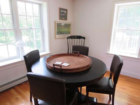 and game table - 1789 Main Street Chatham Cape Cod New England Vacation Rentals