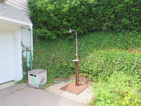 Outdoor shower to rinse off - 1789 Main Street Chatham Cape Cod New England Vacation Rentals