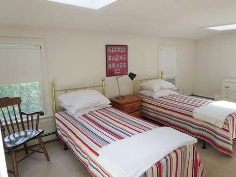 Bedroom 2 with twins- 2nd floor - 1789 Main Street Chatham Cape Cod New England Vacation Rentals