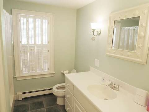 Bathroom #1 on first floor with shower - 1789 Main Street Chatham Cape Cod New England Vacation Rentals