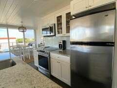 Refrigerator, stove, oven, microwave, dishwasher Coffeemaker, blender, toaster
