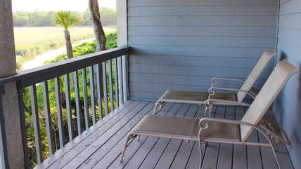 Step to the sundeck and relax on the chaise.