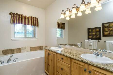 Master Bath Jetted Tub & Separate Shower