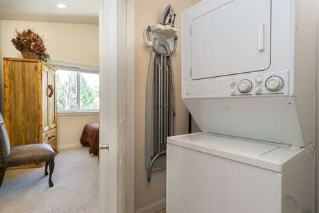 Main Level Washer & Dryer, with Views Into Twin Room