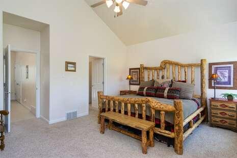 Master Suite with Door Opening Into Walk-in Closet