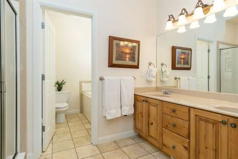 Master Bathroom with Double Vanity, Jetted Tub, Separate Shower