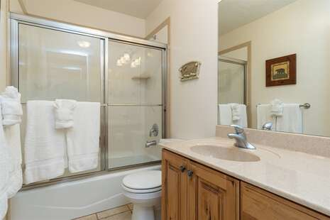 Main Level Full Bathroom with Shower/Tub Combo
