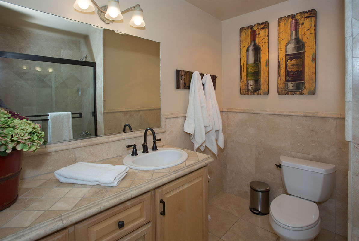 Guest Bathroom #2 also serves as bathroom & shower for Pool area