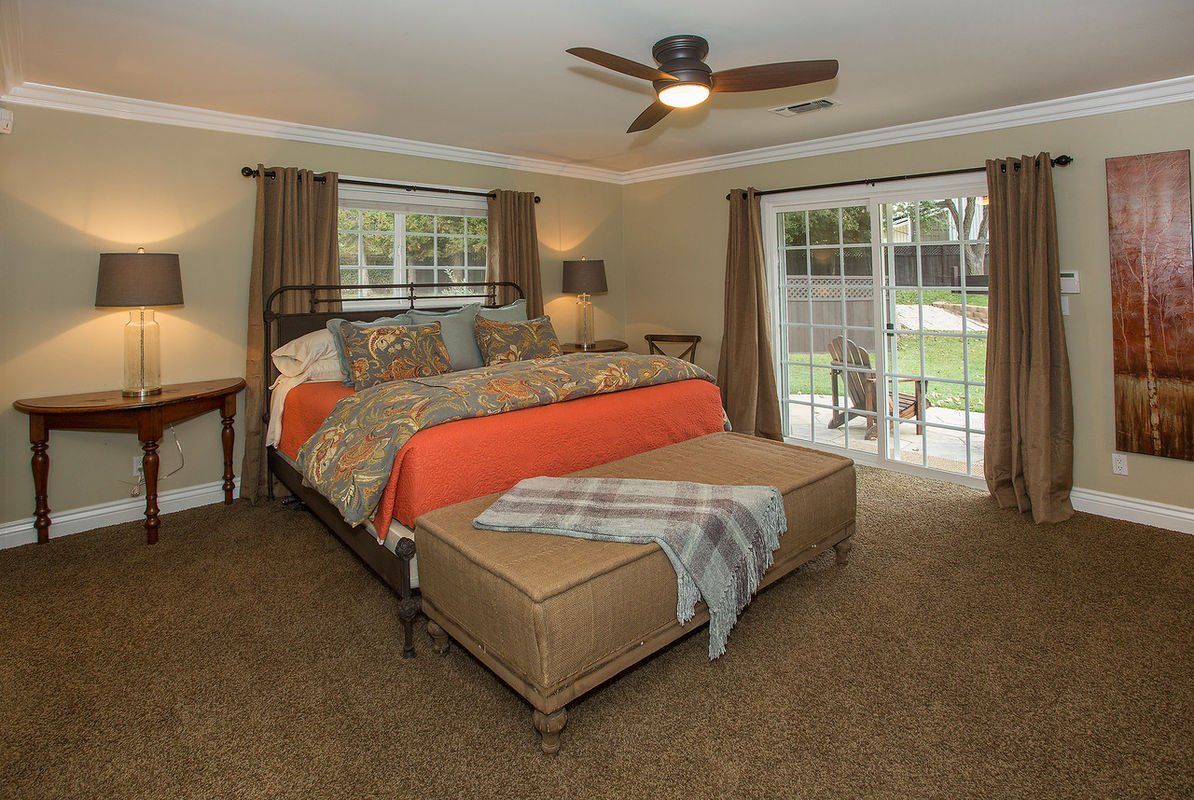 Master Bedroom with pool & yard access