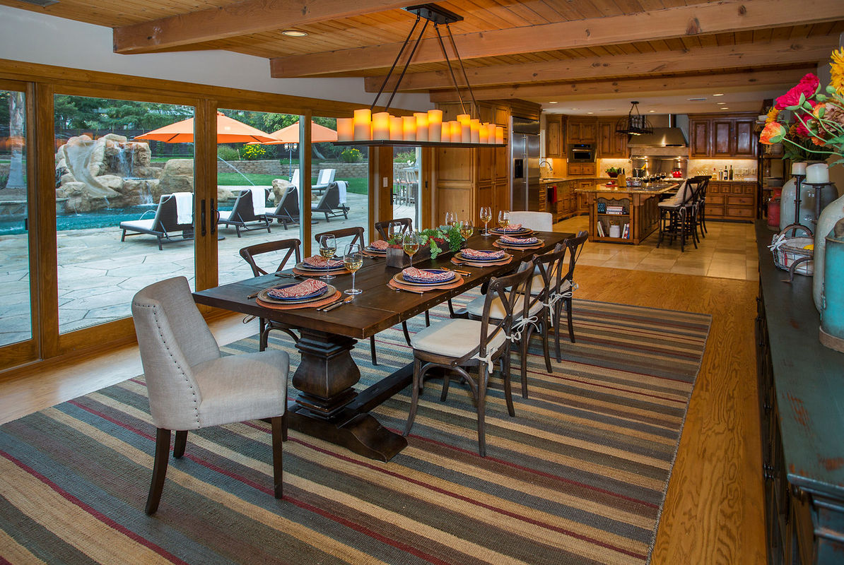 Casual ranch feel with fine furnishings