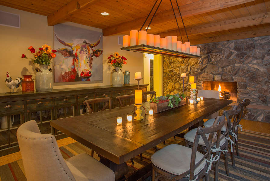 Dining Room w/fireplace
