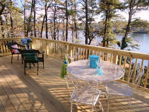 Dine outdoors - gas grill available - 379 Oak Street Harwich Cape Cod New England Vacation Rentals